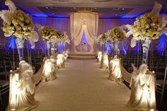 Wedding, Flowers, White, Ceremony, Purple, Silver, Belvedere banquets