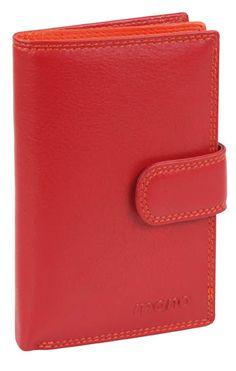 Damenbörse mit Riegel (rot) - M17704RT