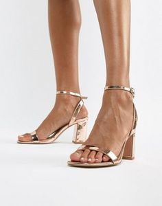 Shop ASOS DESIGN Hong Kong barely there block heeled sandals in rose gold. With a variety of delivery, payment and return options available, shopping with ASOS is easy and secure. Shop with ASOS today. Rose Gold Block Heels, Gold Block Heel Sandals, Platform Block Heels, Strappy Sandals, Heeled Sandals, Gladiator Sandals, Hong Kong, Ted Baker, Prom Heels