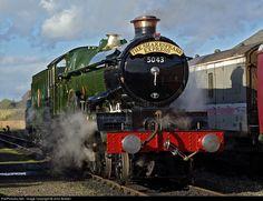 Net Photo: 5043 Great Western Railway Steam at Birmingham, United Kingdom by John Bowler Heritage Railway, Abandoned Train, Steam Railway, Old Trains, Train Engines, Great Western, Steam Engine, Steam Locomotive, Great Britain