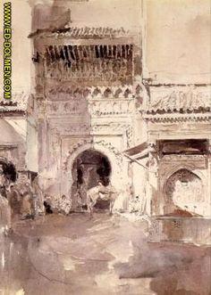 Mariano Fortuny Marsa_Calle de Tánger (Bab El Fahs) 1871