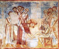 Lavanda dei piedi, 1070-1208, Abbazia di Sant'Angelo in Formis, Capua