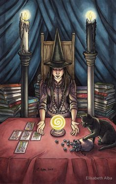 «Everyday Witch Tarot - La Alta Sacerdotisa» de Elisabeth Alba