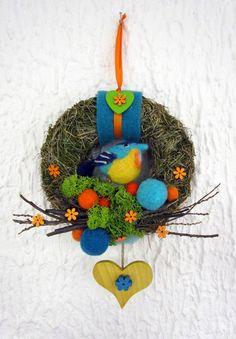 Türkranz  Vogel - farbenfroh - Frühling von kunstbedarf24 auf DaWanda.com