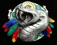Snake Snakes Native American Animals Coolbuckles Belt Buckle Boucle de Ceintures #viper #snake #cobra #beltbuckle