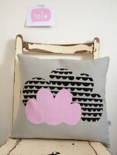 cloud cushion by Mabelandbird