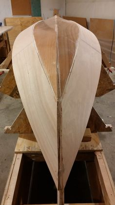 "Wood ""V""s with sliders and ratcheting straps seem to have put a slight concave curve into the garboards similar to a real Olsevar"