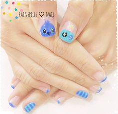 Kawaii Lilo & Stitch nails