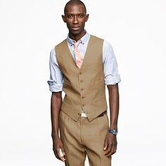 Suit Vest in Irish Linen from J.Crew