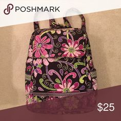 Vera Bradley Backpack 100% Authentic. Vera Bradley backpack in the pattern Purple Punch. No rips or tears in the fabric. No trades. Price is negotiable. Vera Bradley Bags Backpacks