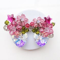 Gifts for her  Cluster stud earring  Statement by PastelGems