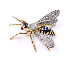 gold-queen-bee-brooch-with-enamel-and-diamonds