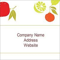 """Free Avery® Templates - Fruits Design Square Labels, 2.0"""" x 2.0"""""""