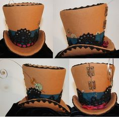 Mini Top Hat - Steampunk style. Used tutorial at Off Beat Bride.