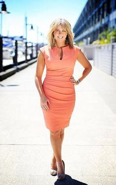 Samantha Armytage. I need this dress. Anyone know who it is by?
