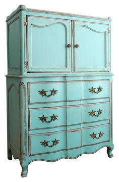 turquoise shabby chic furniture