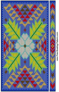 free beading patterns | free-beading-pattern-checkbook-cover-woodland-01
