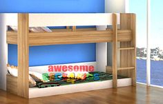 Lego Low Line Bunk Bed is a great option for space saving. Available in Oak/White and All white.
