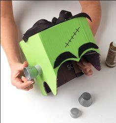 Cute DIY Frankenstein costume