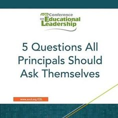 In this blog post, ASCD author Baruti Kafele stresses the importance of attitude in every leader and presents five questions all principals should ask themselves.