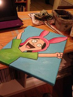 Louise Belcher from Bob's Burgers Painting by KimberlandArt, $120.00