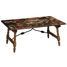 Who says graffiti isn't artwork?  Highway Signs Coffee Table
