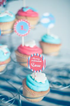Airplane vintage party...cupcake toppers