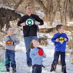 superhero family photos this would be too funny with my boys :) they would love it