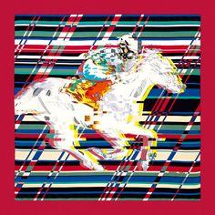 Scarf 90 Hermès | Photo Finish Silk-twill scarf, hand-rolled (90 cm x 90 cm) Designed by Dimitri Rybaltchenko