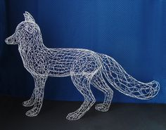Very cool life size wire fox sculpture by Ruth Jensen