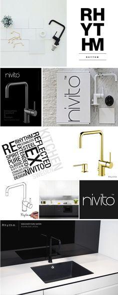 Nivito kitchen tap / Musta keittiöhana