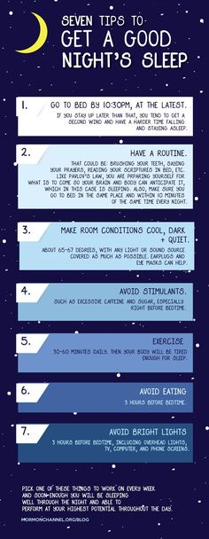 7 Tips to Get a Good Night's Sleep!