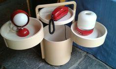 Carrello design Kartell, lampada design Flos, radiolampada design Eurofon