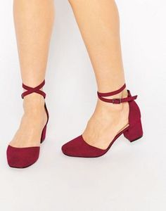 1740ddecd32 Туфли на каблуке ASOS SIGHTING Low Heel Shoes