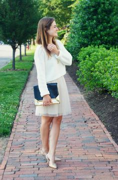 Semi-casual tulle skirt