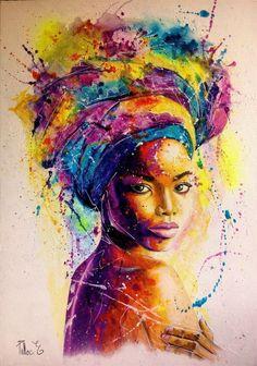 Pop art &comics in 2019 art, black love art, black art painting. Black Love Art, Black Girl Art, Art Girl, Black Art Painting, Black Artwork, Afro Painting, Body Painting, Afrique Art, African Art Paintings