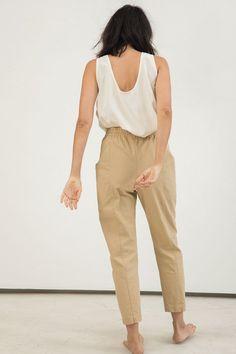 Clyde Work Pant in Cotton Canvas – Elizabeth Suzann