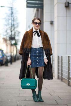 Street Style da semana de moda de Londres 2015 Ella Catliff