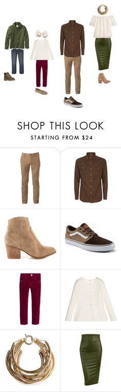 """Family Portraits Green & Brown"" by lindsey-fulgham on Polyvore featuring Urban Pipeline, Polo Ralph Lauren, ALDO, Vans, Catimini, Rosantica, LE3NO, H&M and Old Navy"