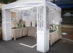 Cute idea for hiding otherwise ugly canopy legs/ weights #jewellerydisplay