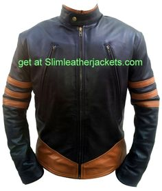 X-Men #wolverine leather jackets only for lover Hugh Jackmans specially offers free shipping at slimleatherjackets .com