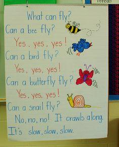 The Inspired Apple: Creating a Text Rich Environment: Charts & Poems Kindergarten Poetry, Kindergarten Science, Starting Kindergarten, Preschool Songs, Preschool Journals, Preschool Alphabet, Preschool Themes, Kids Songs, Poetry Journal