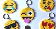 Emoji Face Keyrings Hama Beads NEW Assorted ( 5 Pack ) Handmade UK | Hama beads idea | Pinterest | Emoji faces, Hama beads and Beads