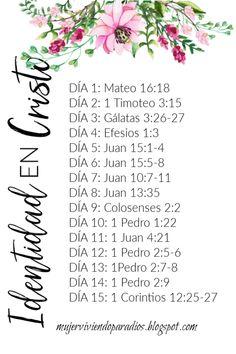 Estudio bíblico: Identidad en Cristo - Fowl Tutorial and Ideas Biblical Verses, Bible Verses Quotes, Bible Scriptures, Bible Study Plans, Bible Plan, Jesus Is Life, God Jesus, Bible Words, God Prayer