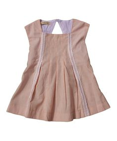 Look what I found on #zulily! Blush Stripe Pleated Top - Toddler by Cavelle Kids #zulilyfinds