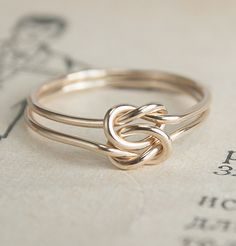Lover's Knot Ring, $80.