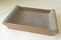 Vassoio vuota tasche o per riporvi le posate per il servizio al tavolo: cartone con fianchi in ciliegio.