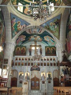 Iconostasis in St. Thekla (Mar Takla) in Maaloula Monastary, Syria