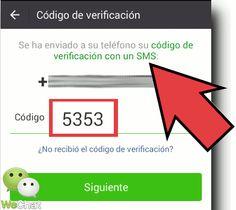 Cómo recuperar contraseña WeChat por SMS en Android