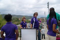 Western Carolina athletics staff member Rick Fulton and his wife Jana check out the All-Sports reunion festivities.